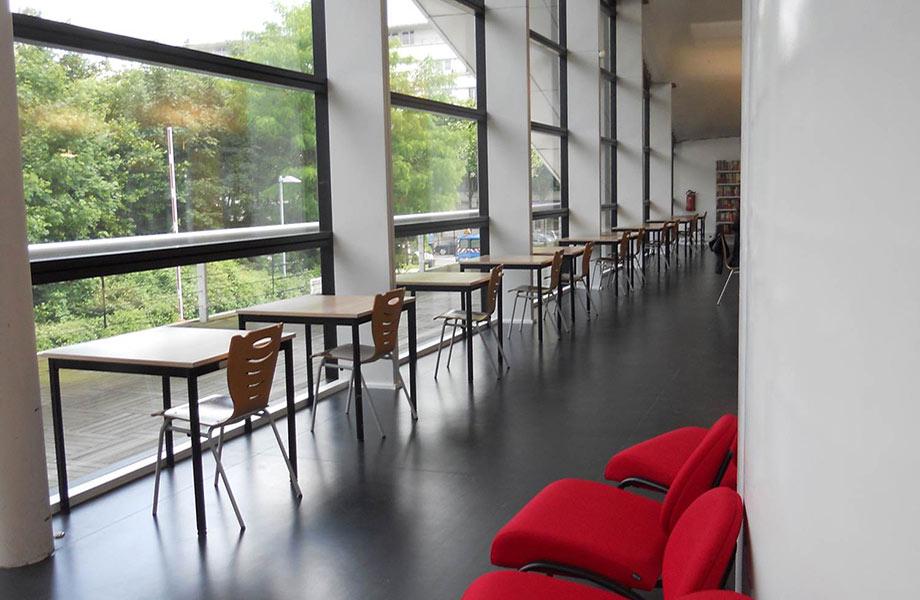 Espaces de travail vue exterieure - Bibliothèque ESIEE Paris