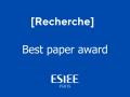 Recherche - Best paper award