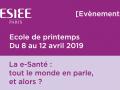 Ecole de printemps e-santé 2019