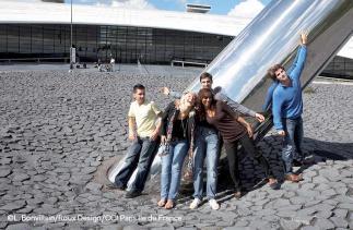 Etudiants ESIEE Paris - Rond point Axe de la terre