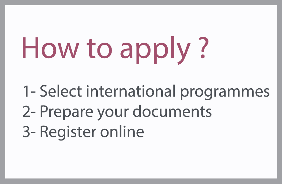 How to apply ? International masters